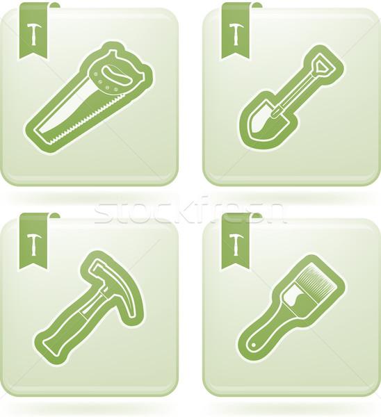 Bouwplaats tools zwaar industrie hier Stockfoto © Vectorminator