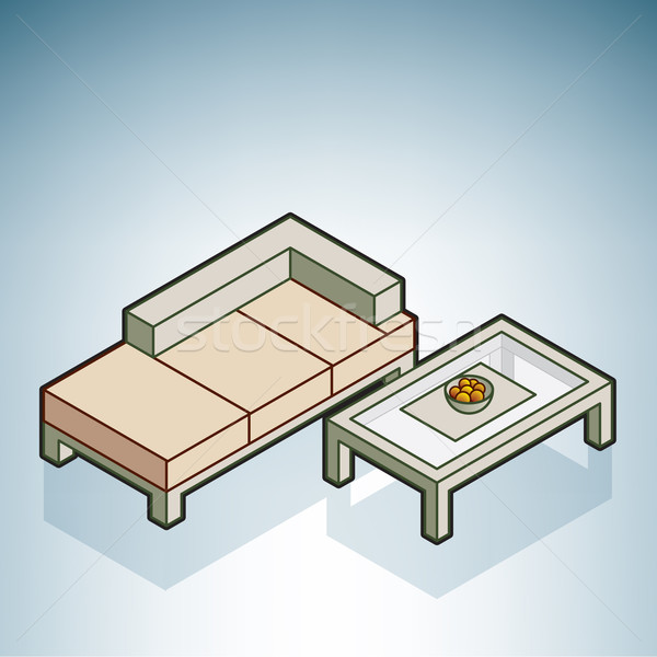 Sofa and Coffee Table Stock photo © Vectorminator