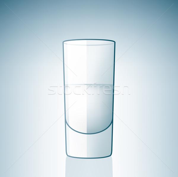 ウォッカ ガラス アルコール ドリンク ボタン ストックフォト © Vectorminator