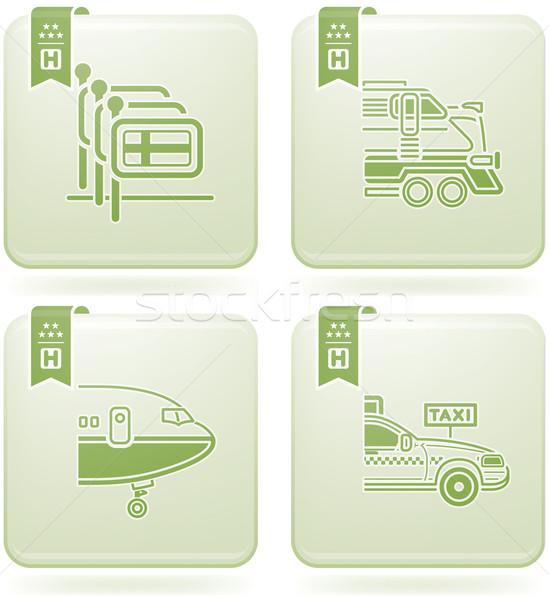 Olivine 2D Squared Icons Set: Hotel Stock photo © Vectorminator