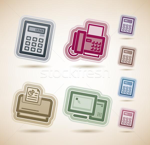 Bureau fournir objets haut inférieur Photo stock © Vectorminator