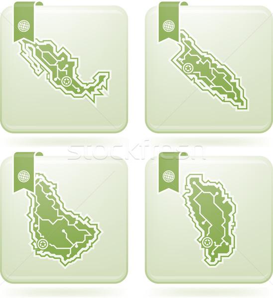 Eenvoudige land iconen ontwerp landen Stockfoto © Vectorminator