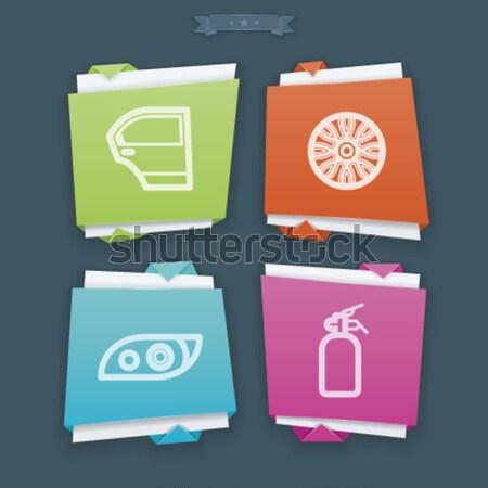 Temizlik diğer araçları doğru çamaşır suyu şişe Stok fotoğraf © Vectorminator