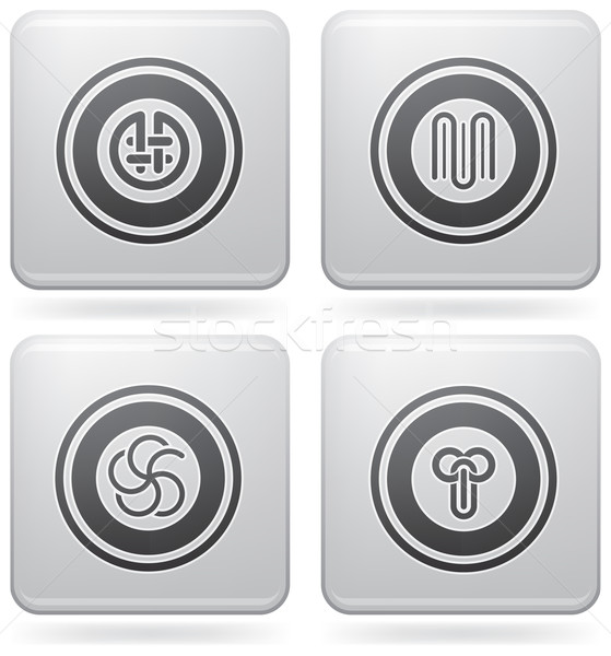 Platina ícones monte abstrato os ícones do web geral Foto stock © Vectorminator