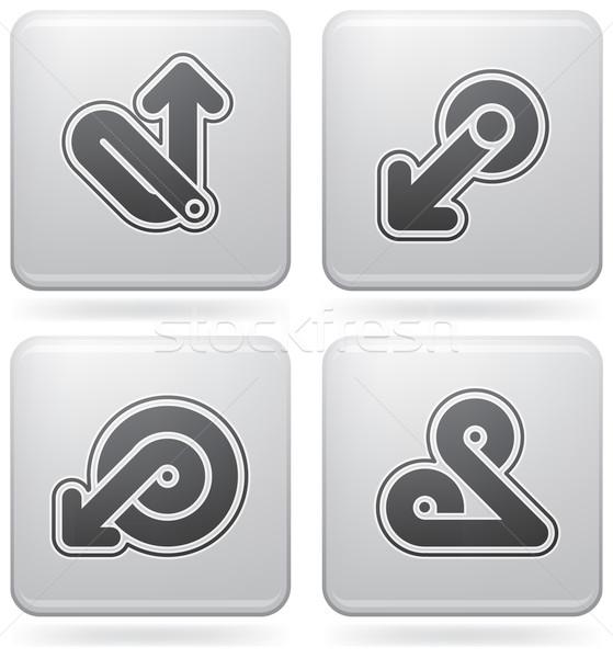 Platina ikonok köteg absztrakt webes ikonok általános Stock fotó © Vectorminator