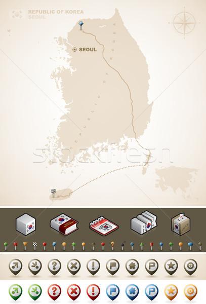 República Asia mapas extra establecer Foto stock © Vectorminator