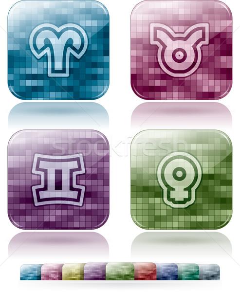 Astroloji işaretleri zodyak doğru üst alt Stok fotoğraf © vectorminator