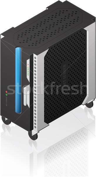 Medium Tower Size Server Rack Stock photo © Vectorminator