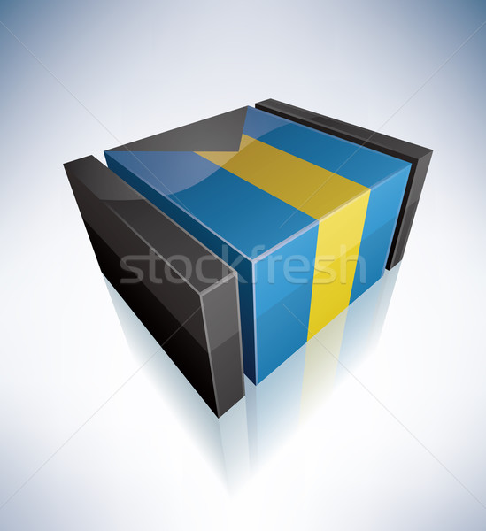 3D flag of Bahamas Stock photo © Vectorminator