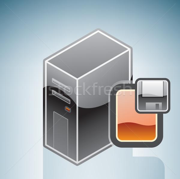 Computer Floppy Disk Drive Stock photo © Vectorminator