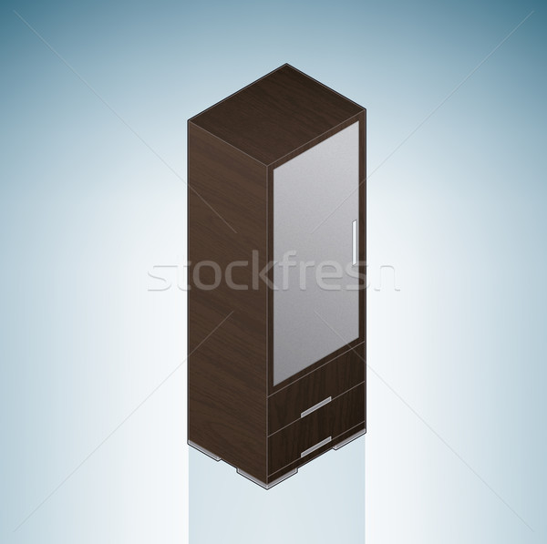 Furniture: Small Bedroom Cupboard Stock photo © Vectorminator