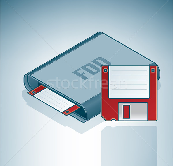 Floppy Disk Drive Stock photo © Vectorminator