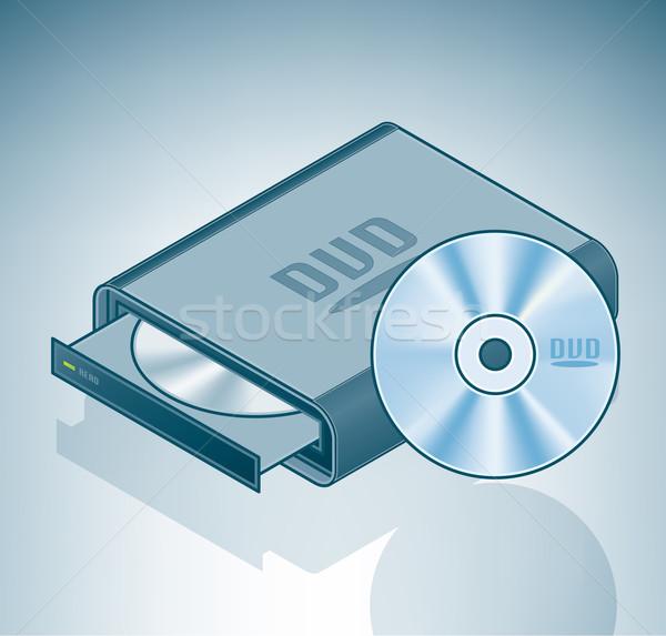 Portátil conduzir isométrica 3D computador ferragens Foto stock © Vectorminator