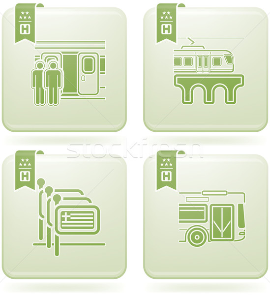 Olivine 2D Squared Icons Set: Hotel Stock photo © Vectorminator