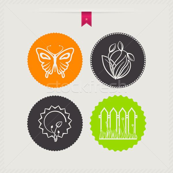 весны четыре иконки право Top нижний Сток-фото © Vectorminator