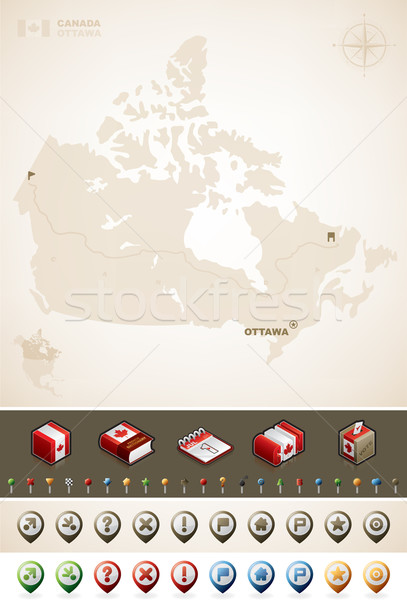 Canada carte nord Amérique cartes Photo stock © Vectorminator