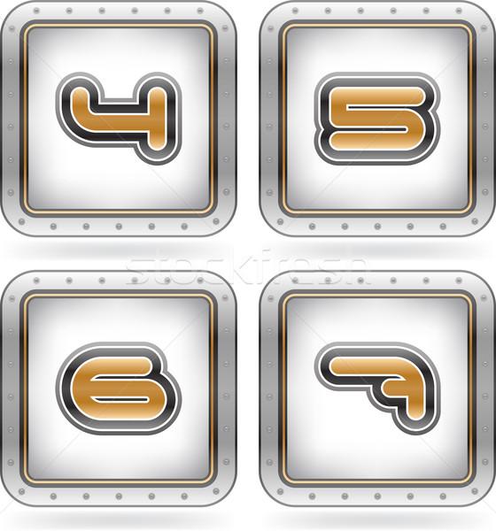 文字 クロム ルックス のような 銀 金 ストックフォト © Vectorminator