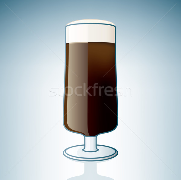 Dark Beer Glass Stock photo © Vectorminator