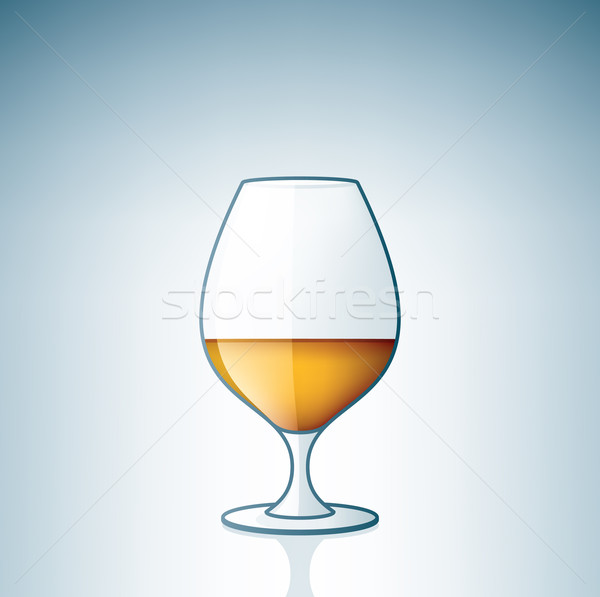 Brandy cognac alcool verre boire Photo stock © Vectorminator