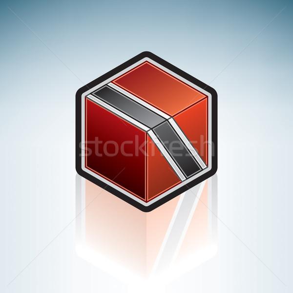 средний Америки флаг республика Азии 3D Сток-фото © Vectorminator