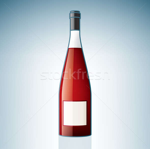 Red Wine Bottle Stock photo © Vectorminator