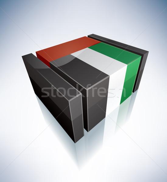3D flag of UAE Stock photo © Vectorminator