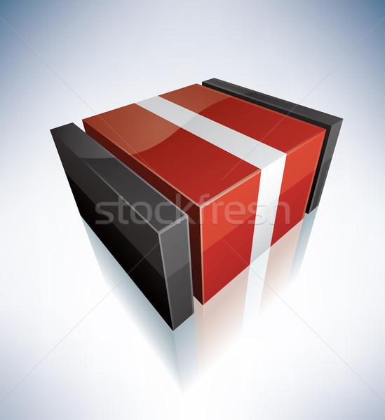 3D vlag Letland vlaggen Europa republiek Stockfoto © Vectorminator