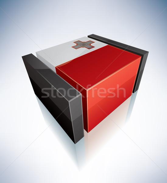 3D vlag Malta vlaggen Europa republiek Stockfoto © Vectorminator