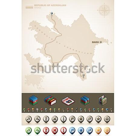царство Камбоджа Азии карт дополнительно Сток-фото © Vectorminator