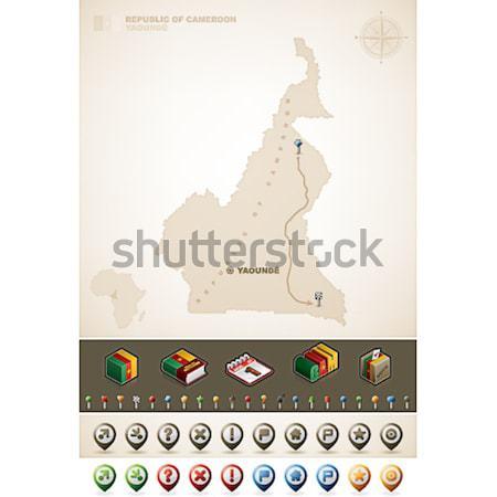 республика Камерун Африка карт дополнительно Сток-фото © Vectorminator