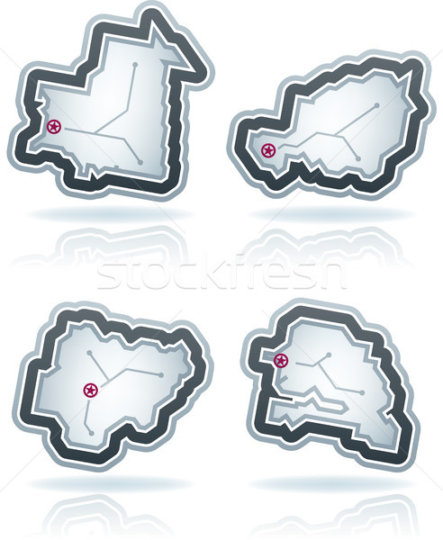 単純な 国 アイコン デザイン 国 ストックフォト © Vectorminator