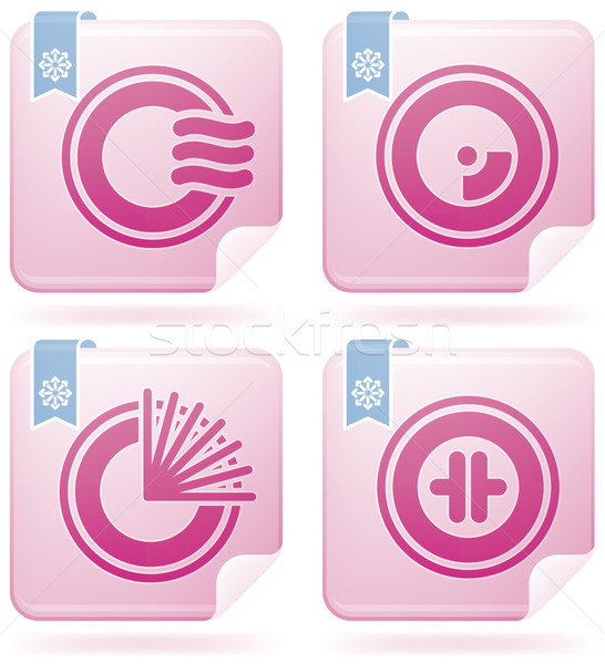 Miscellaneous Flamingo Icons Stock photo © Vectorminator