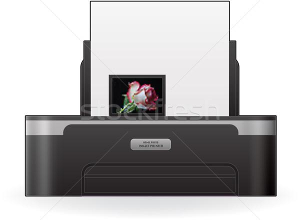 струйные принтер домой цвета фото Сток-фото © Vectorminator