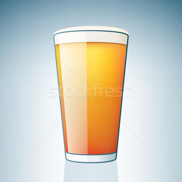 Világos sör üveg alkohol ikon szett sör ital Stock fotó © Vectorminator