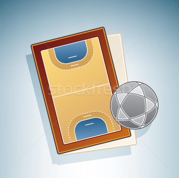 Handball Field Stock photo © Vectorminator
