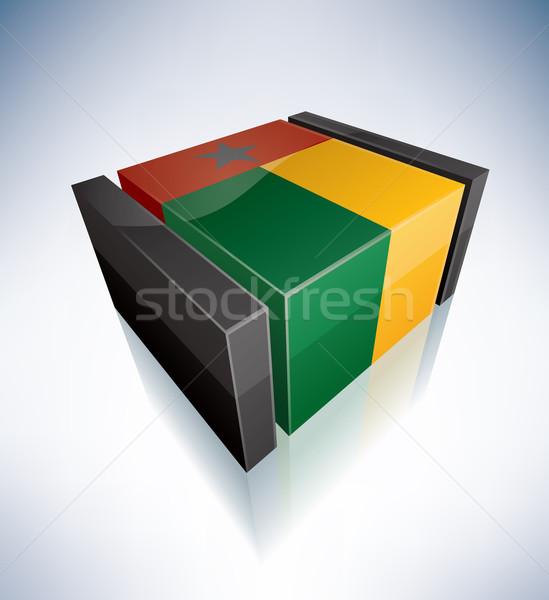 3D flag of Guinea-Bissau Stock photo © Vectorminator
