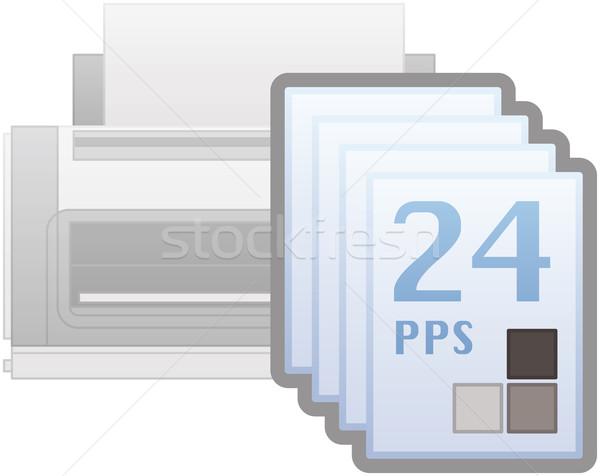 Black&White Printing Speed Icon Stock photo © Vectorminator