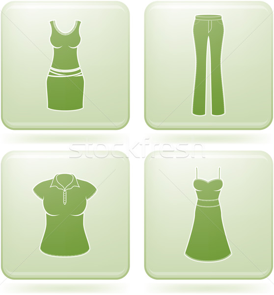Olivine Square 2D Icons Set: Woman's Clothing Stock photo © Vectorminator