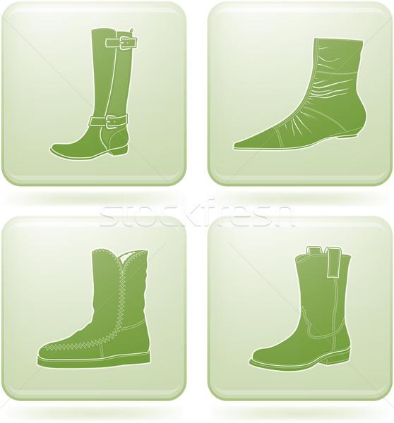 Сток-фото: квадратный · обувь · зима · элегантный