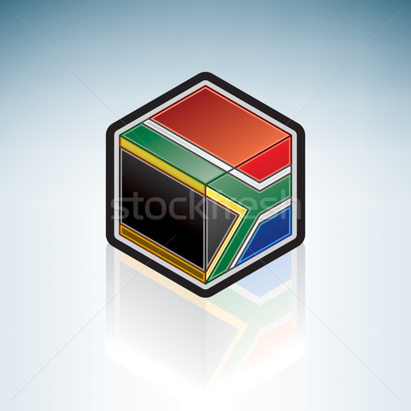 南アフリカ アフリカ フラグ 共和国 3D アイソメトリック ストックフォト © Vectorminator