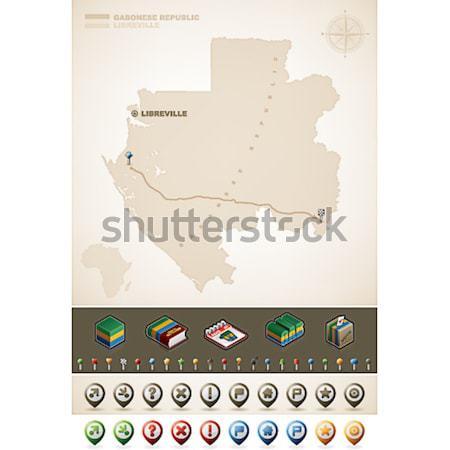 Cumhuriyet Paraguay güney amerika haritaları ekstra Stok fotoğraf © Vectorminator