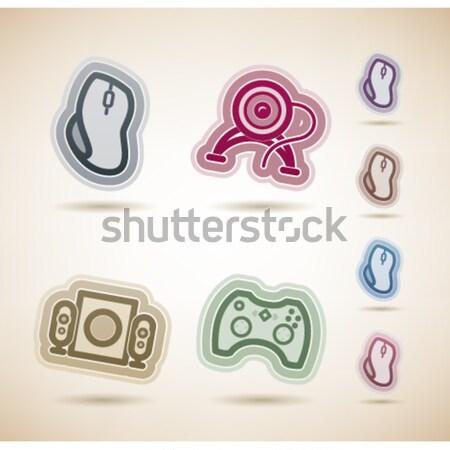 Stockfoto: Outdoor · activiteit · iconen · betrekkingen · zomer · hier