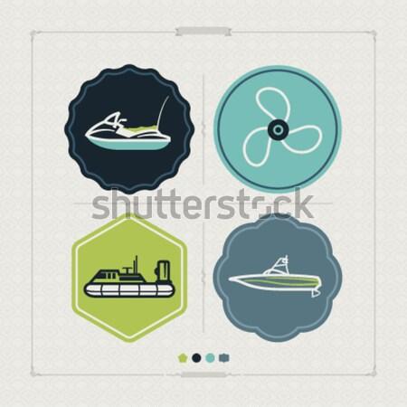 суда лодках вектора иконки другой Сток-фото © Vectorminator