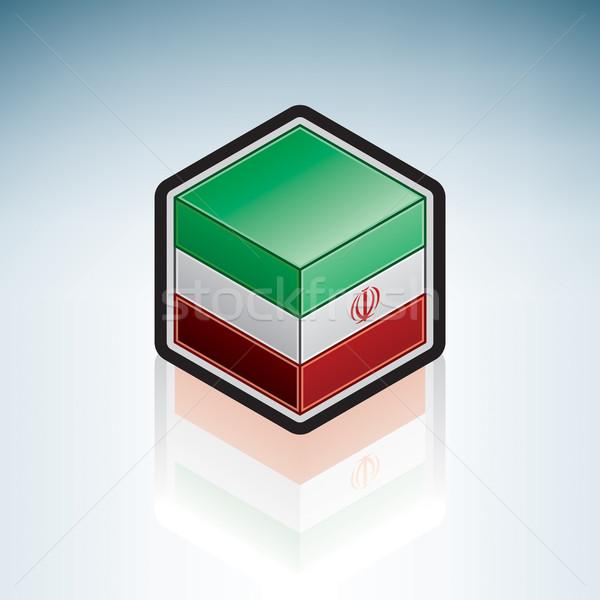 Irán Ázsia zászló iszlám köztársaság 3D Stock fotó © Vectorminator