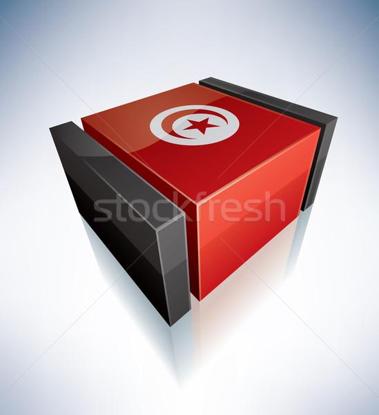 3D flag of Tunisia Stock photo © Vectorminator