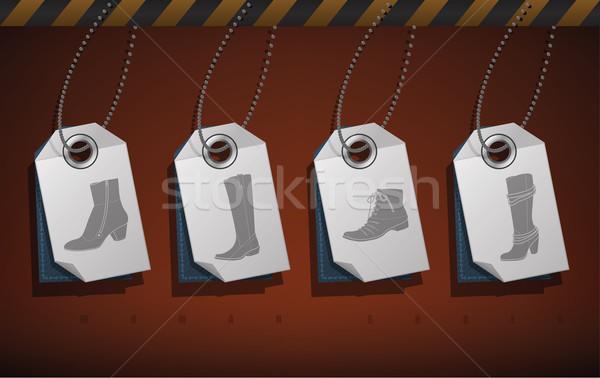 Schoenen alle elegante witte Stockfoto © Vectorminator