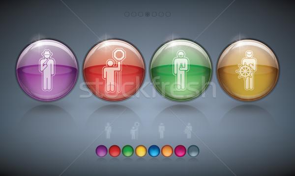 Ocupação ícones quatro ilustrar diferente Foto stock © Vectorminator