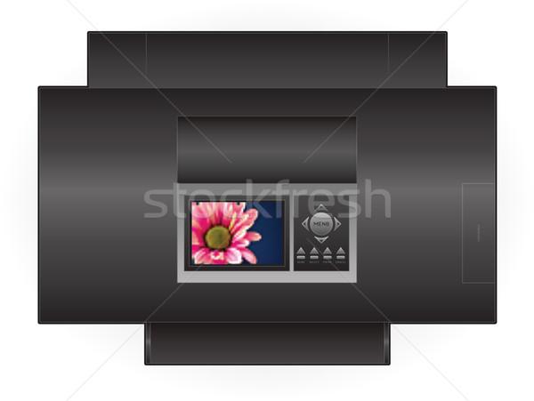 струйные принтер домой цвета фото Top Сток-фото © Vectorminator