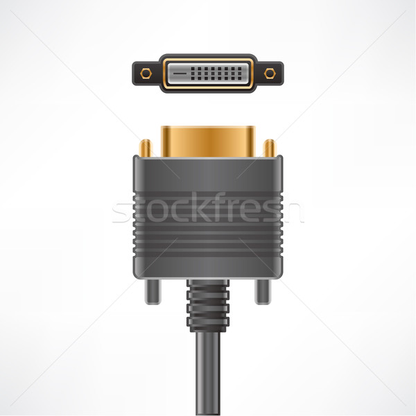DVI-D Video Stock photo © Vectorminator