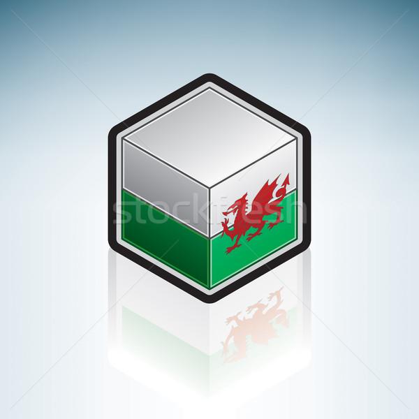 ウェールズ ヨーロッパ フラグ 3D アイソメトリック スタイル ストックフォト © Vectorminator